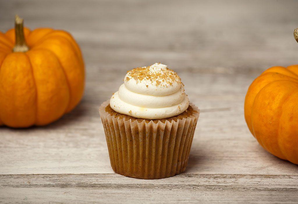 Spiced Halloween Pumpkin Cupcake