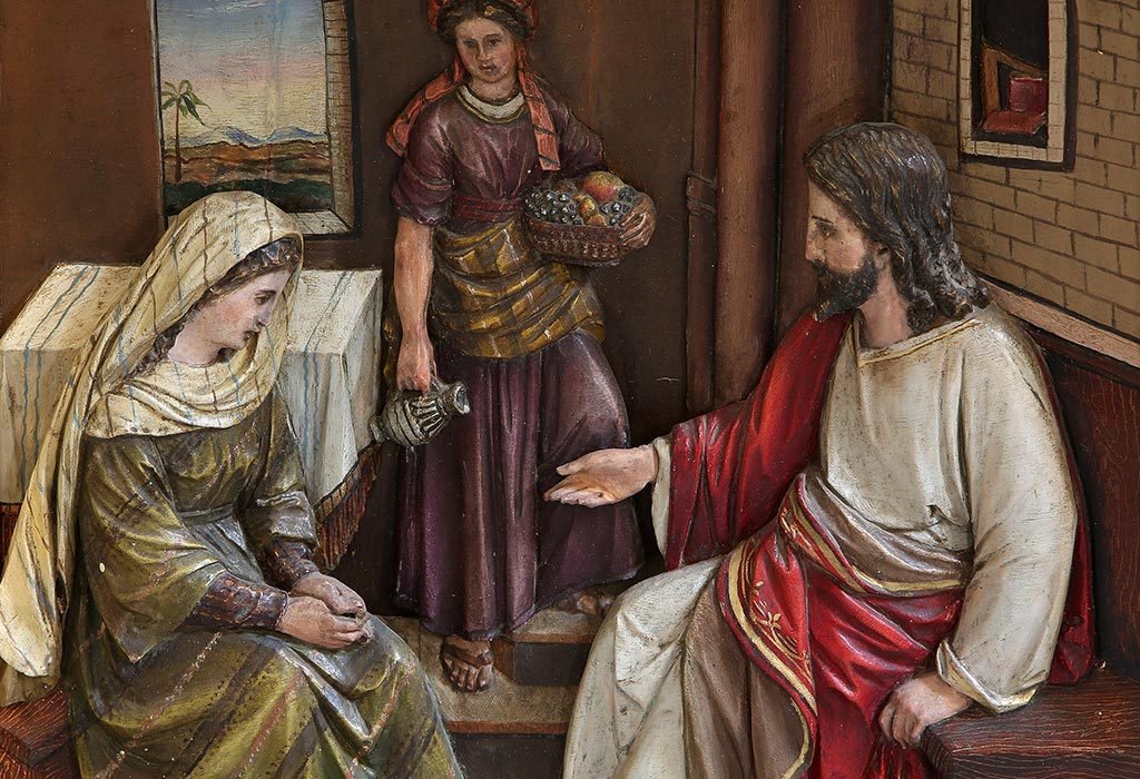 Jesus in the house of Mary and Martha