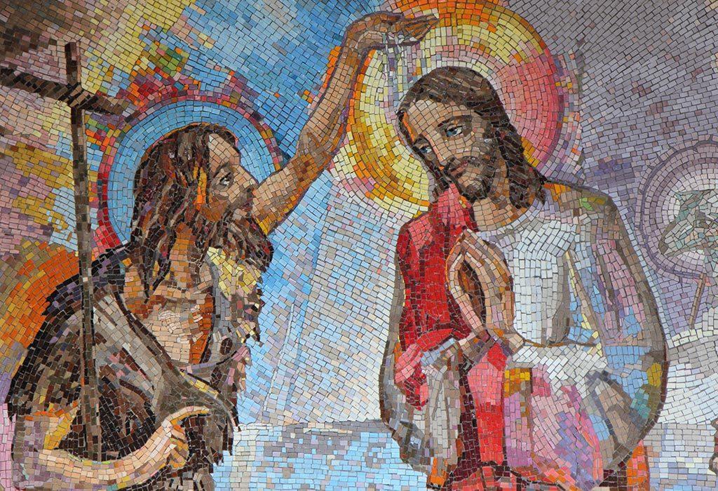 John the Baptist baptising Jesus