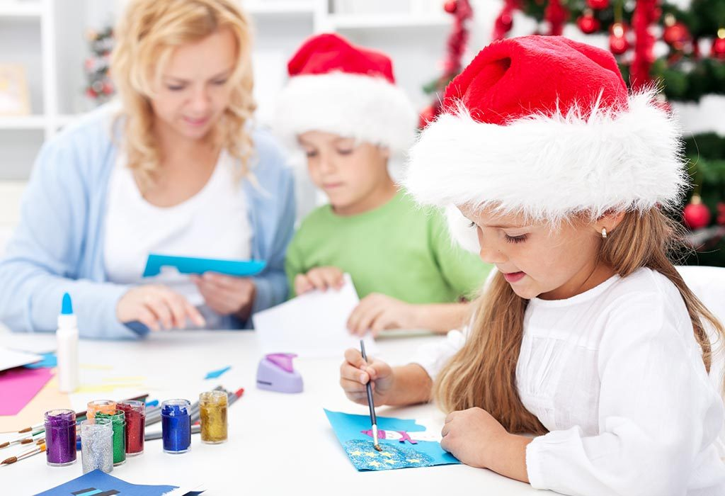 MAKE HOLIDAY GREETING CARDS WITH KIDS