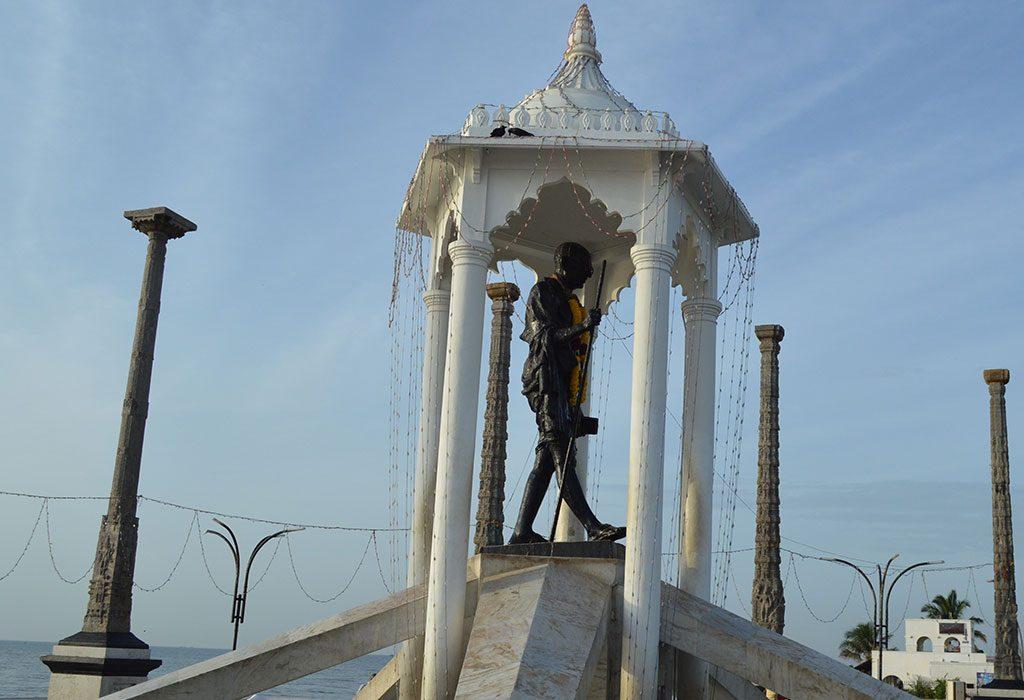 Mahatma Gandhi's statue in Porbandar, his place of birth