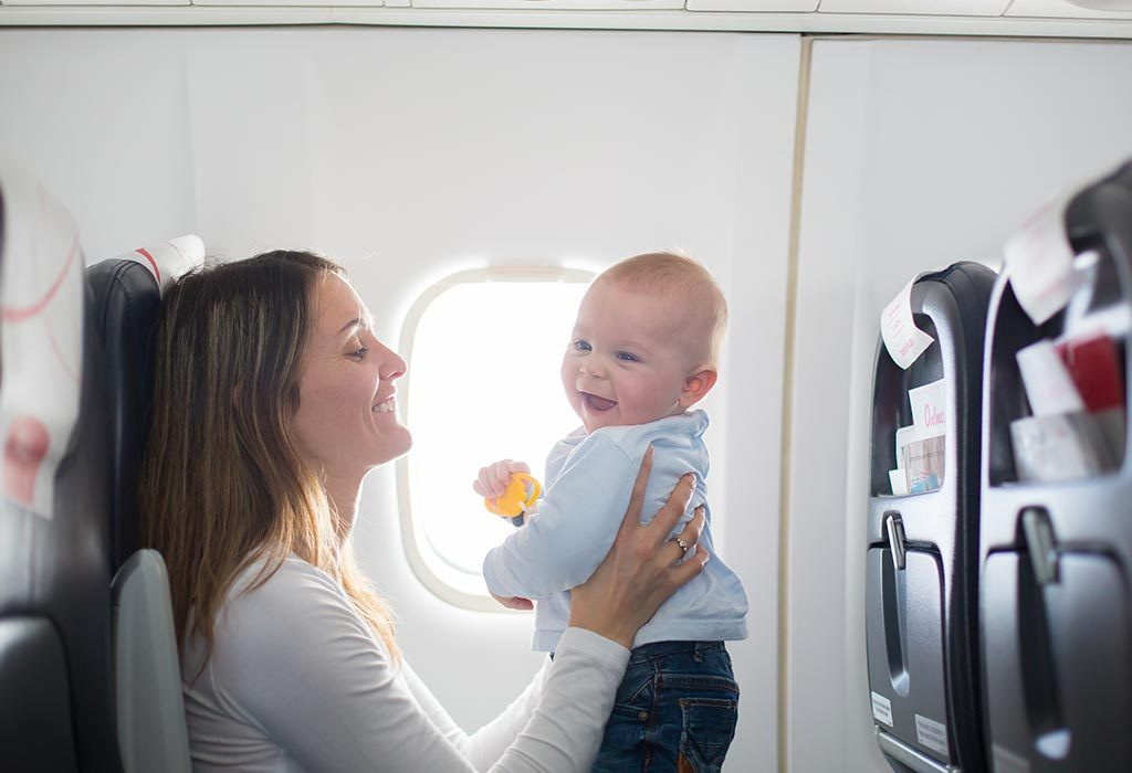 Travelling by flight with kids