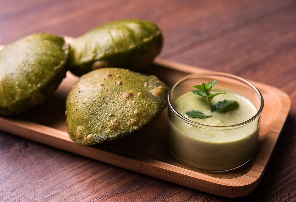 Carrot and Spinach Puri