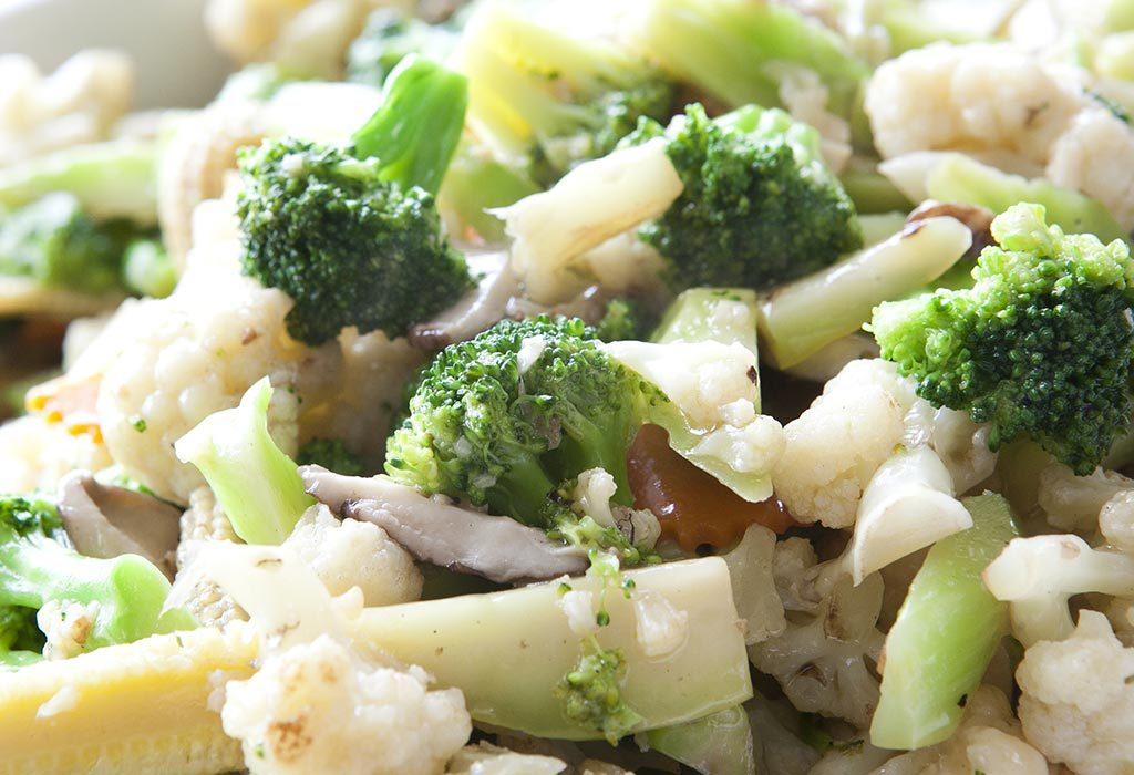 Broccoli And Cauliflower Saute
