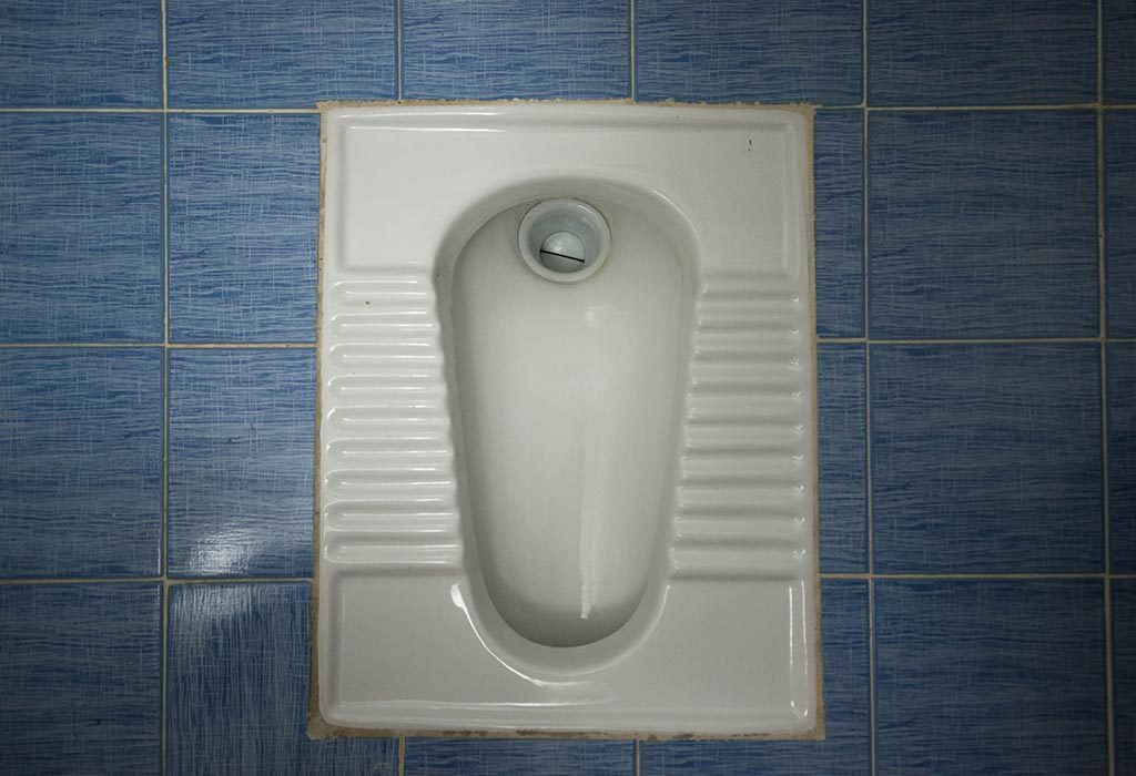 An Indian style toilet