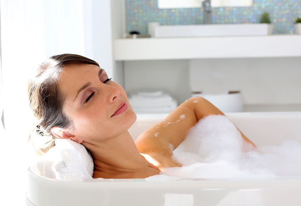 Woman Taking Relaxing Bath