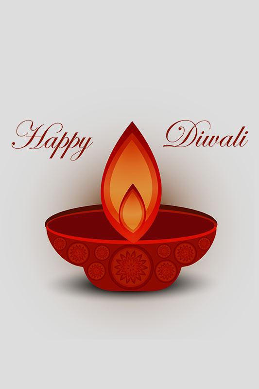 Diya - Diwali Card