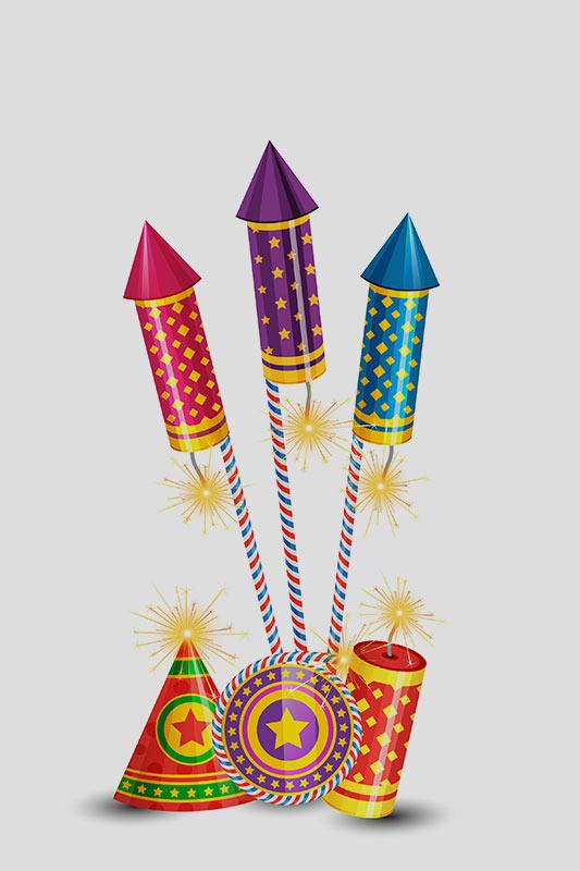 Cracker Card for Diwali