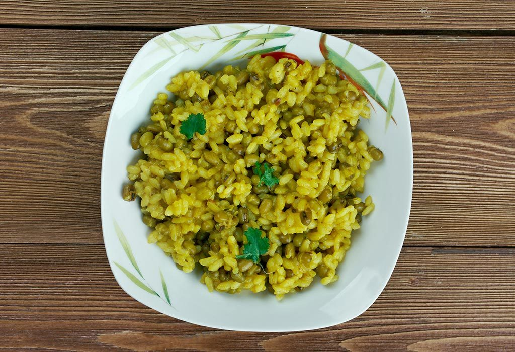 Spinach Moong Khichdi