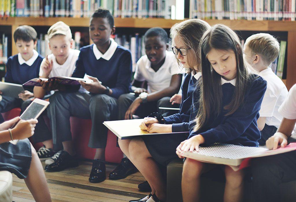 School children debating