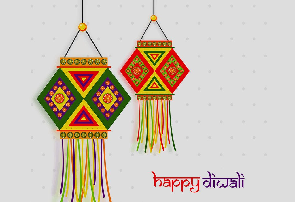 Lovely Lanterns Card for Diwali