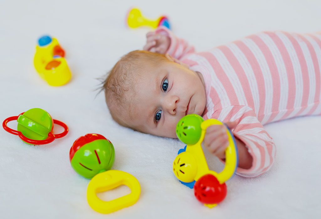 One-month-old baby toys