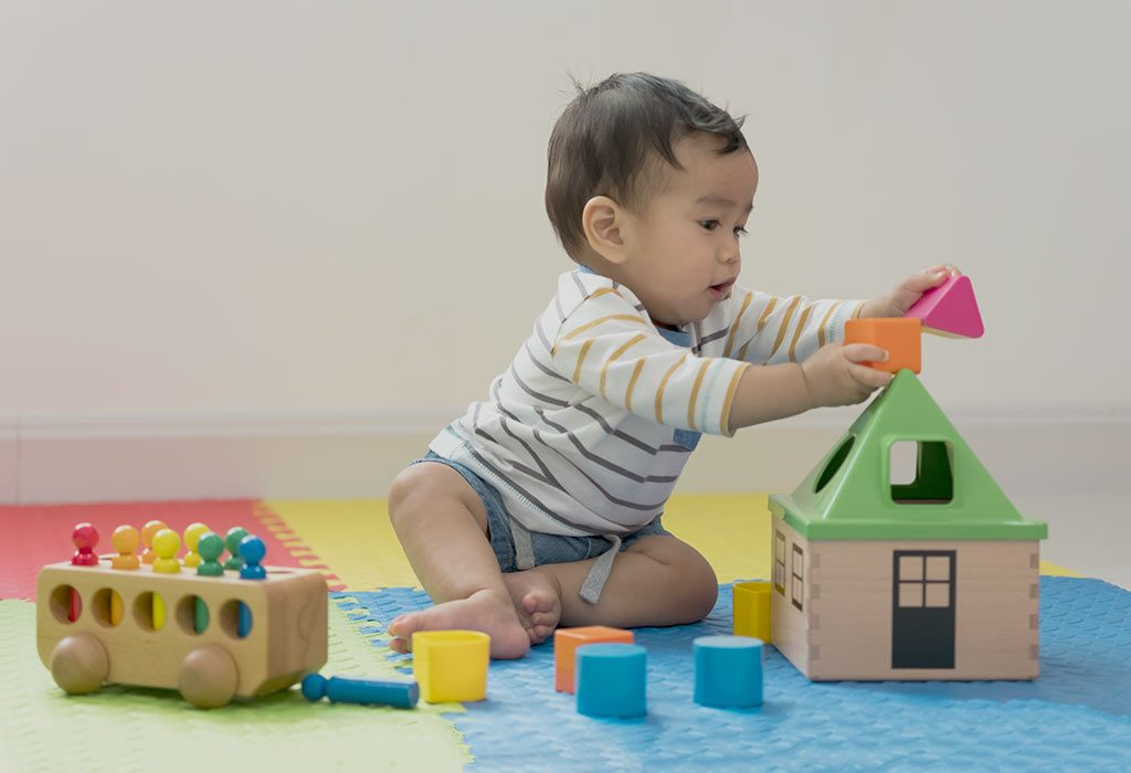 Sorting and Building Toys for 8 Months Old Baby