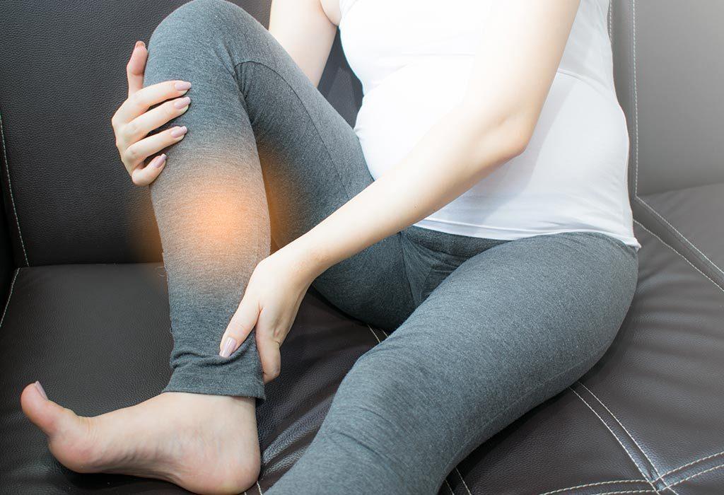 A pregnant woman has leg cramps