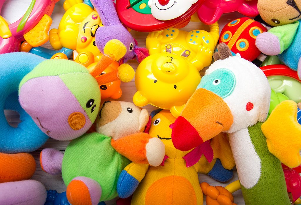 Colourful baby toys