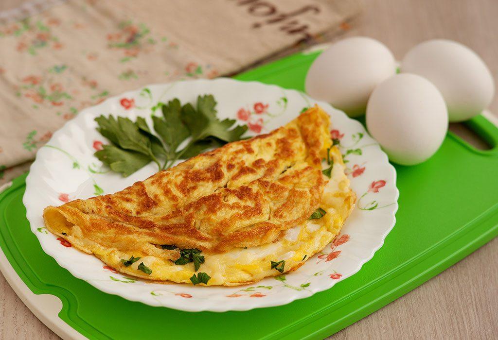 Eggs omelette