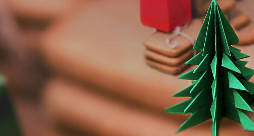 Christmas Origami.Simple Origami Christmas Decorations For Kids