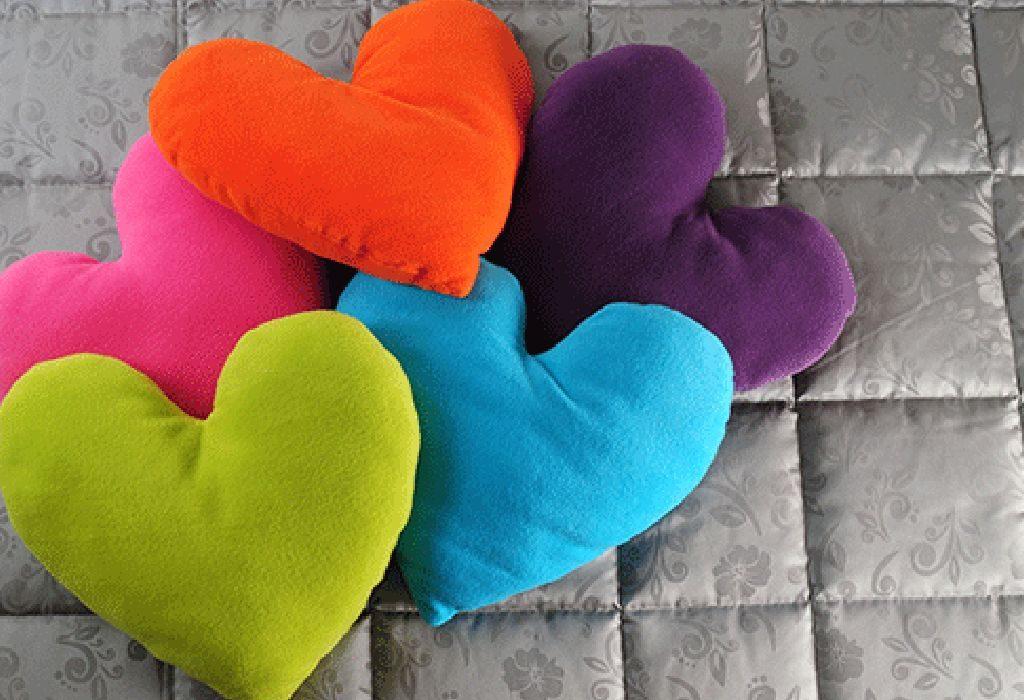 A Set of Heart-Shaped Pillows