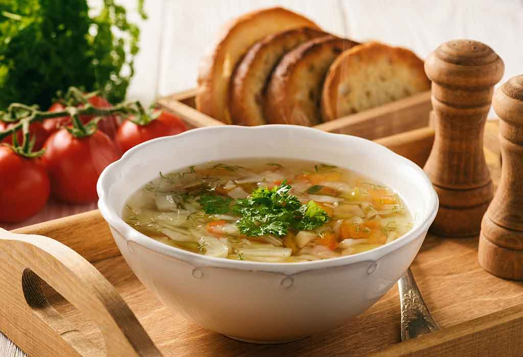 Saffron Vegetable Soup