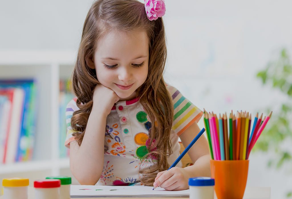 Child learning through drawing