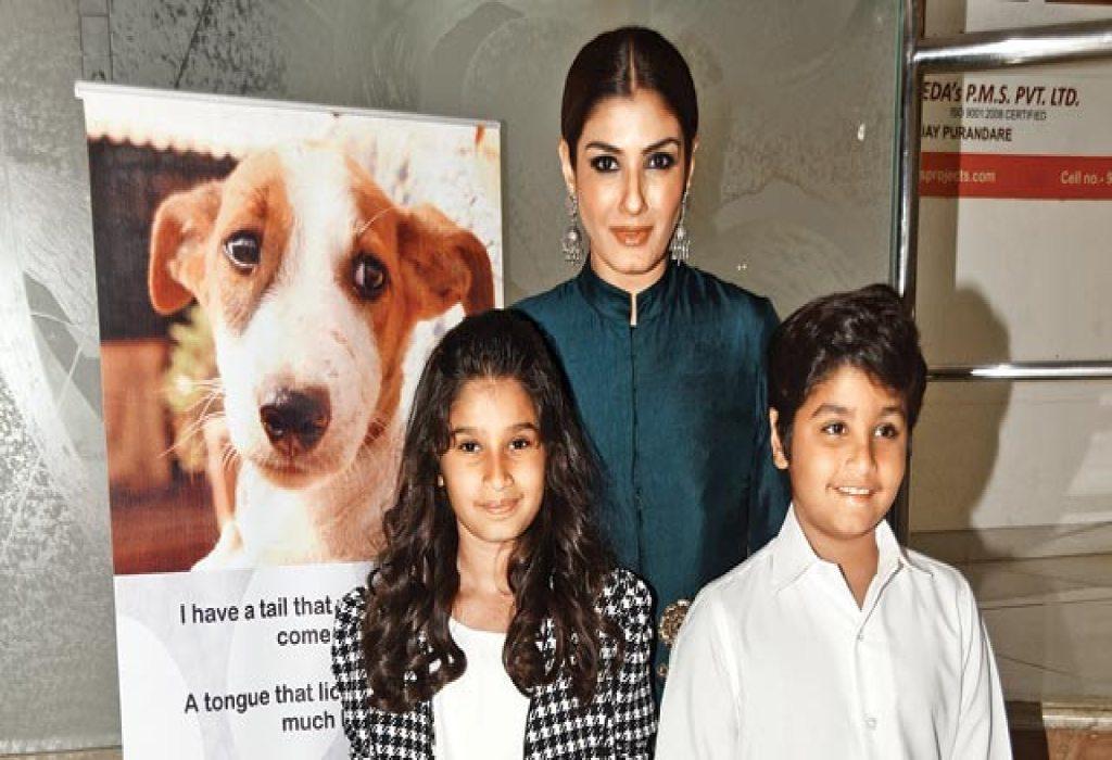 Raveena Tandon with Kids