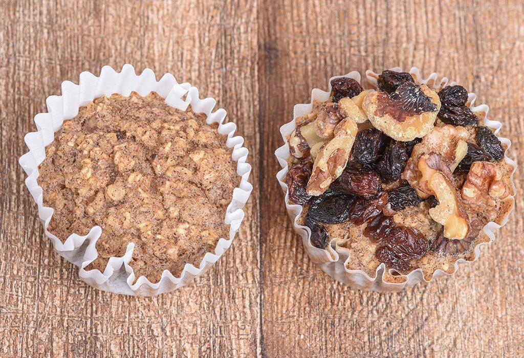 Walnut Raisin Muffins With Bran