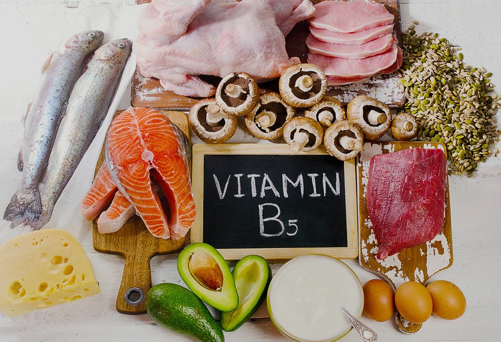 Foods containing vitamin B5
