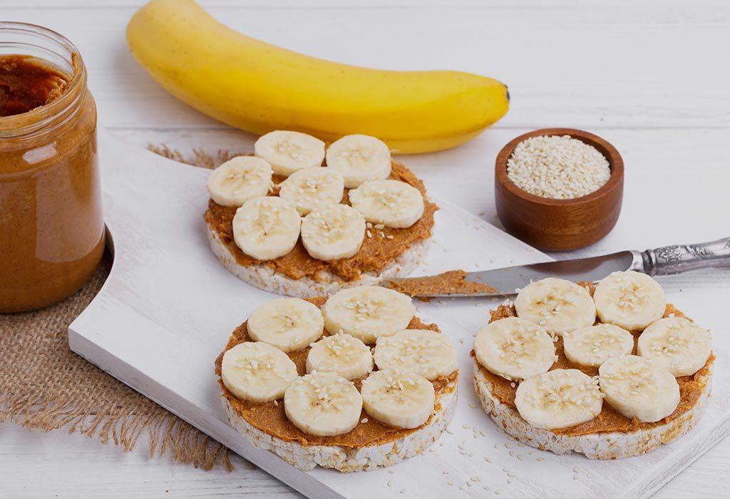 Banana and rice cake
