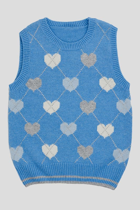 A knitted vest for a baby