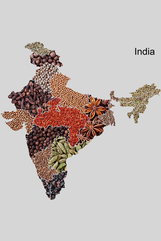 India's spices map
