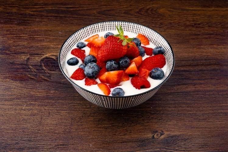 Berries and Yoghurt