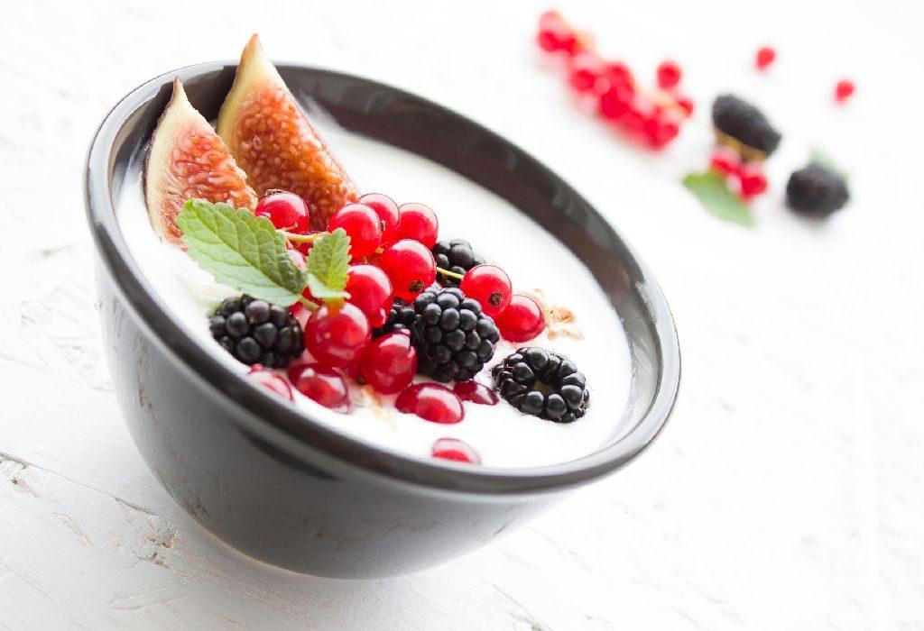 Fruits and Yoghurt