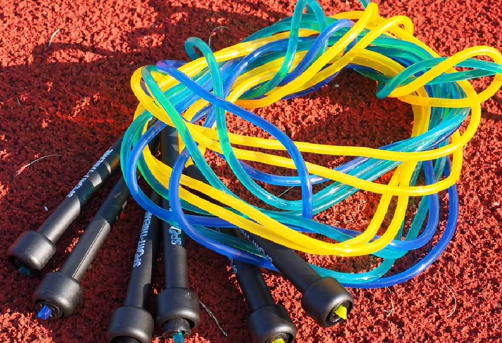 jumping rope and sprint
