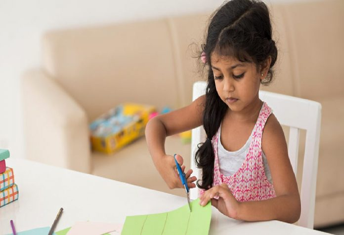 Precautions to take while kids using scissors