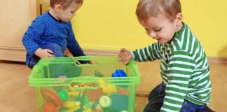 Toddlers Shifting Objects In and Out of Containers