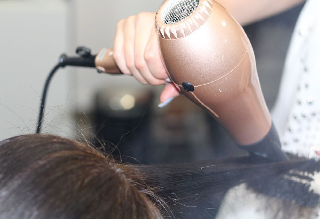 Various types of hair dryers