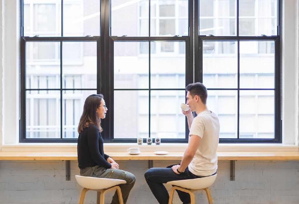 Couple having conversation