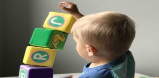 improving stacking skills in an 18 months old