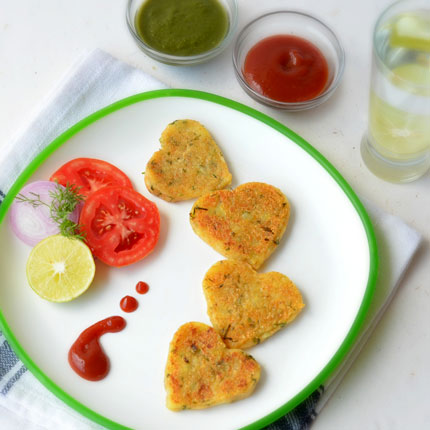 Heart Shaped Aloo Tikki