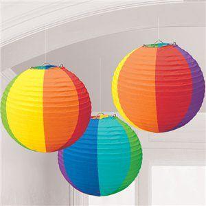 Painted Round Paper Lanterns