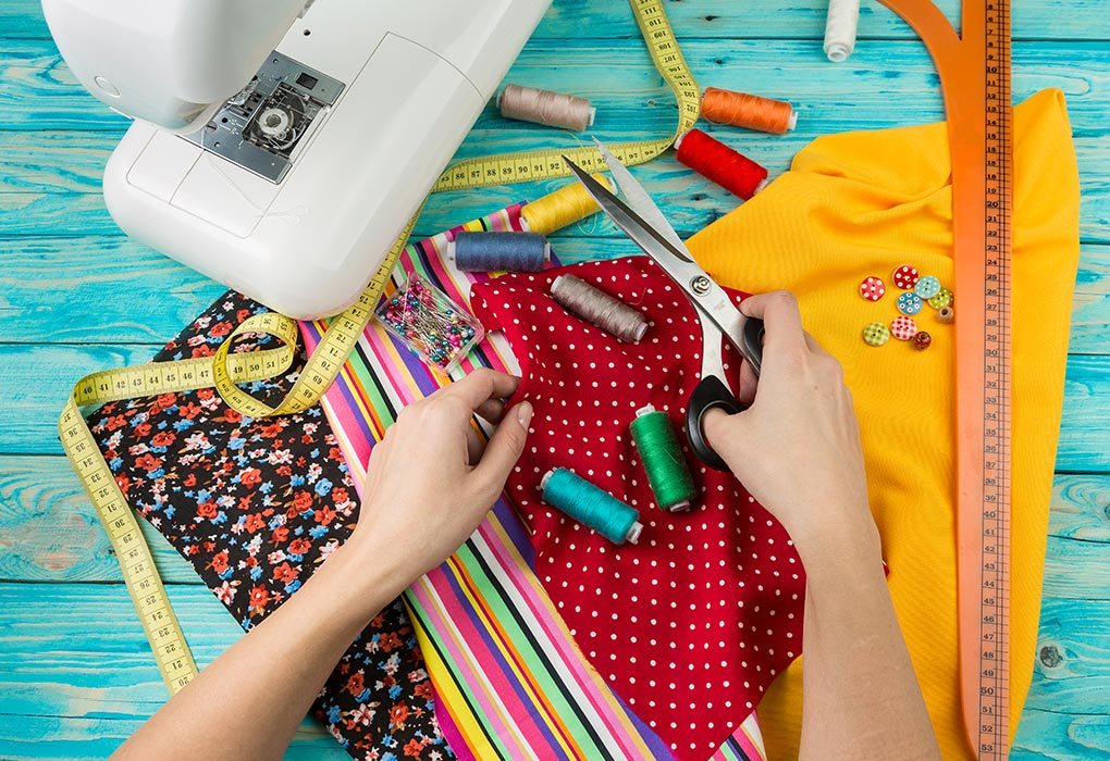 Sewing materials to make cloth diapers