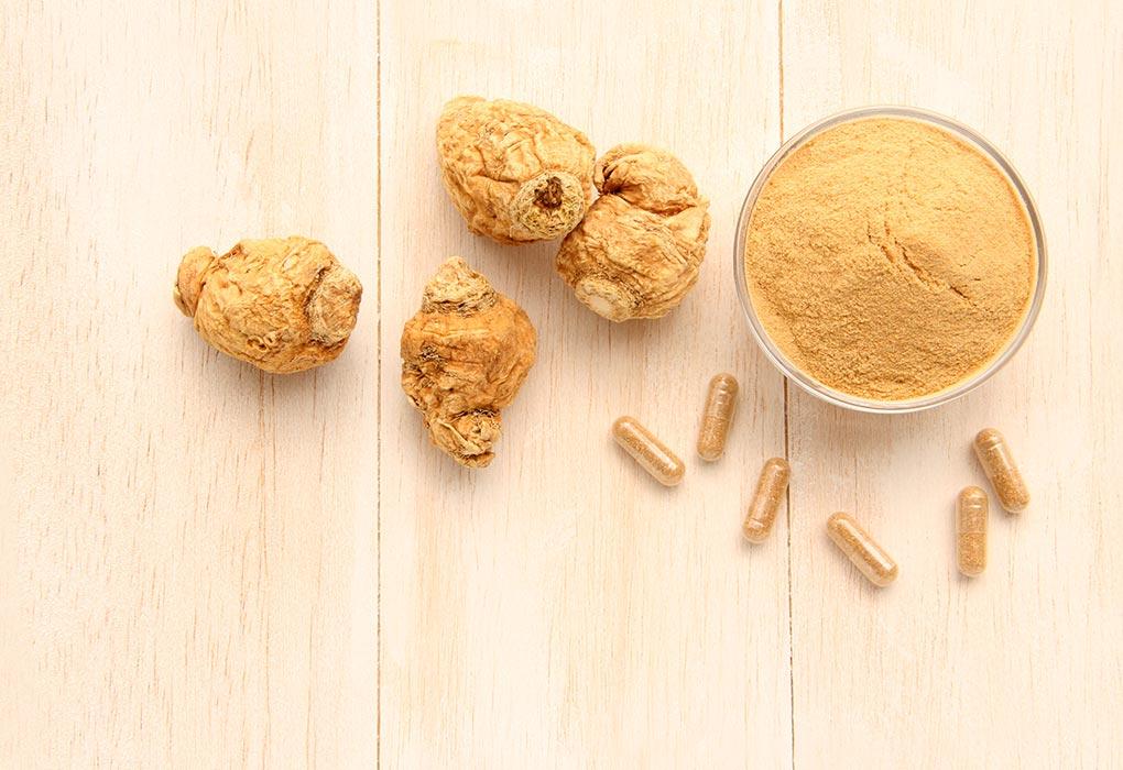 Maca root, maca powder, and maca capsules