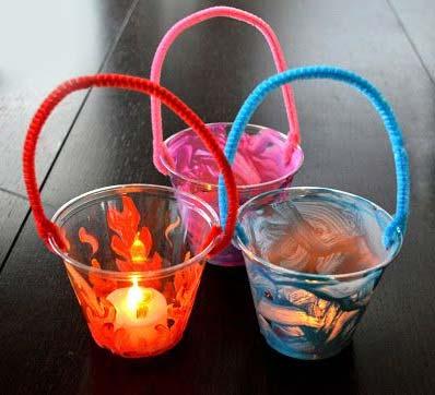 Plastic Cup Lantern