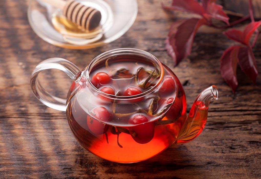 Rose Hip Tea From Fresh Rose Hips