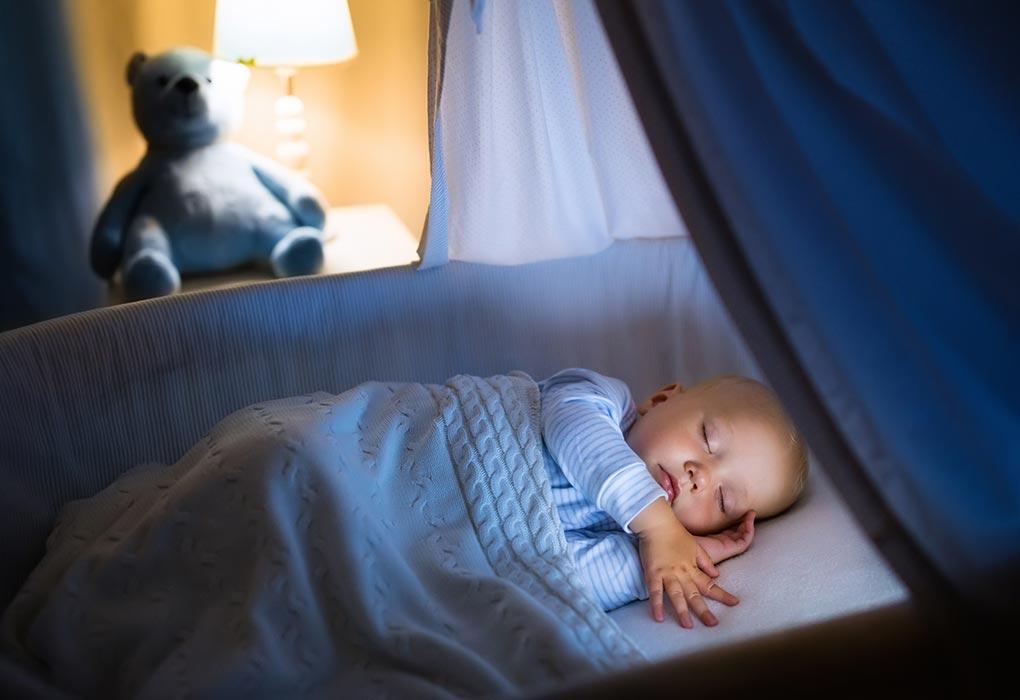Baby sleeping at home