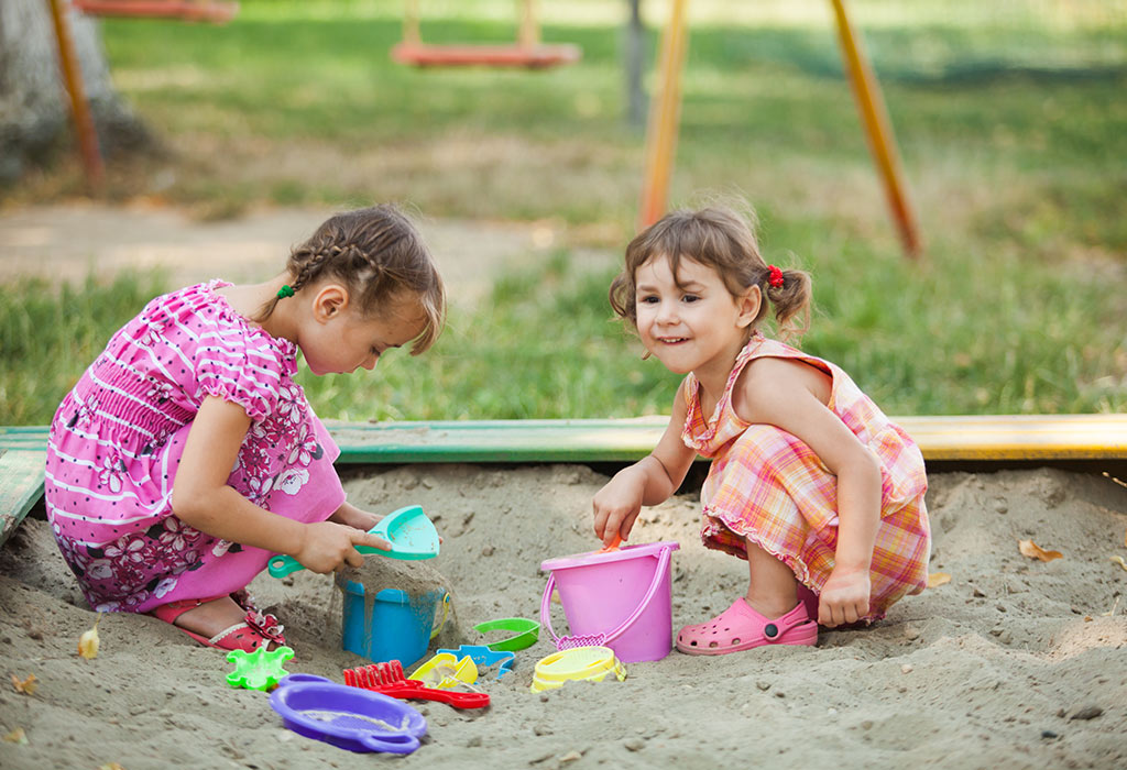 Playing in Sand Box