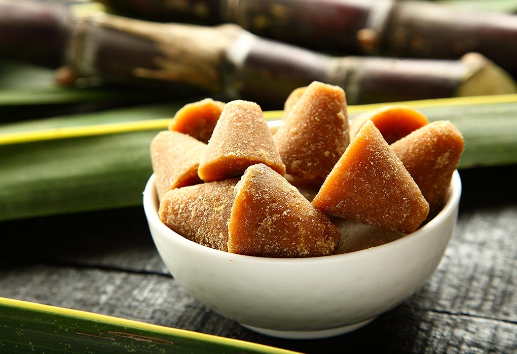 Jaggery for sweetening