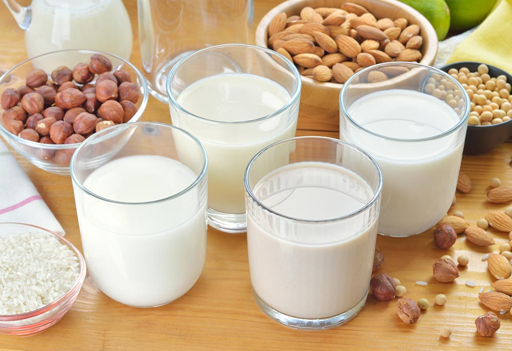 Nut milk to replace cow's milk
