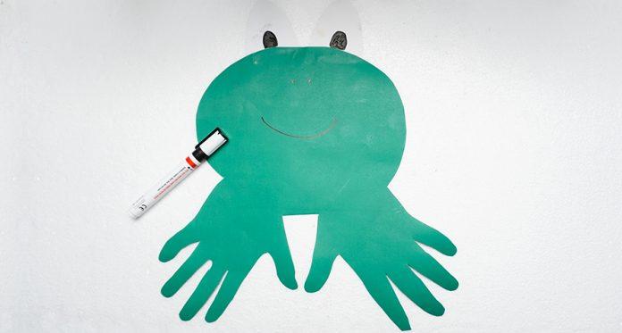 diy hand froggie