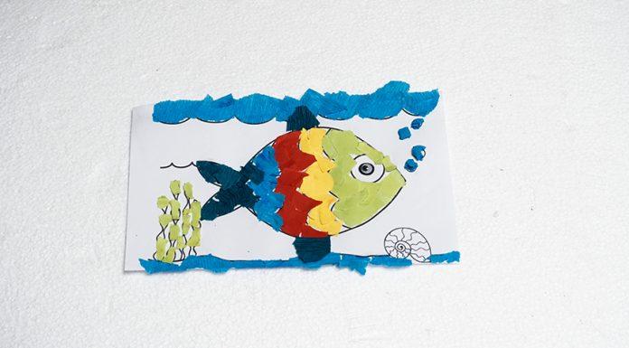 crepe paper rainbow fish diy